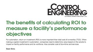 The benefits of calculating ROI to measure a facility's performance